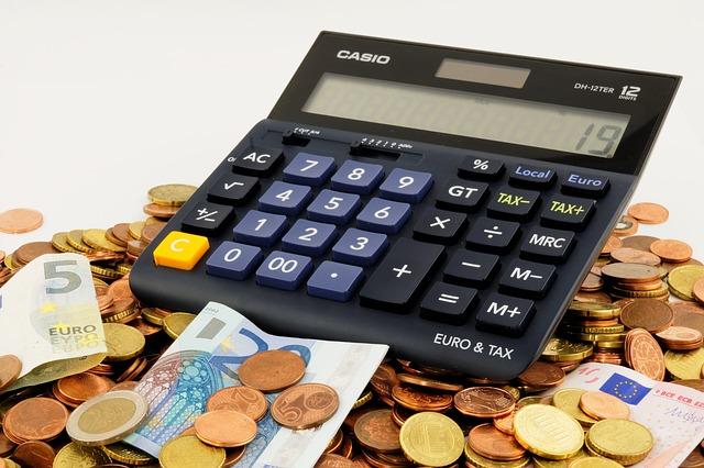 černá kalkulačka